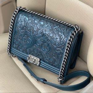 RARE! Auth Chanel Paris Dallas Cordoba Boy Bag